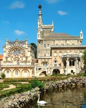 Portugal - Palace of Bussaco - exterior of the luxury hotel