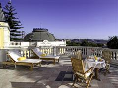 Hall of Pestana Palace Hotel Lisbon Lisboa Portugal
