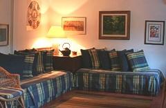 Sitting area in Casa de Esteiró, Caminha, Minho, Portugal