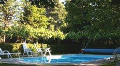 Swimming pool at Casa de Esteiró, Caminha, Minho, Northern Portugal