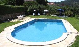 Swimming pool at Casa de Fatauncos, Viseu, Portugal