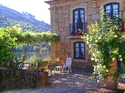 Casa de Rebolfe - terrace overlooking the river - accommodation in Portugal - Douro region