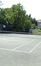 Tennis court at Casa de Fatauncos, Viseu, Portugal