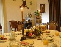 Breakfast room at Casa dos Vargos near Tomar Portugal