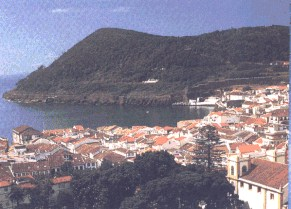 A town in the azores