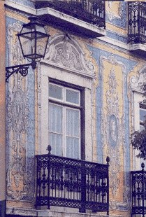 Tiled house in Lisbon, portugal